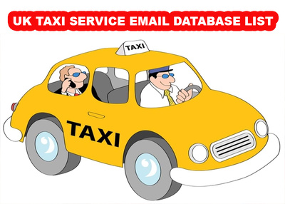 UK Taxi /cab email database 2k