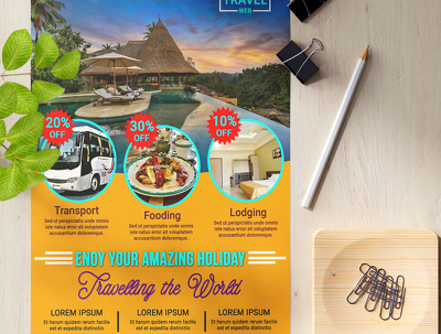 Design double sided flyer, leaflet, poster and advertisement