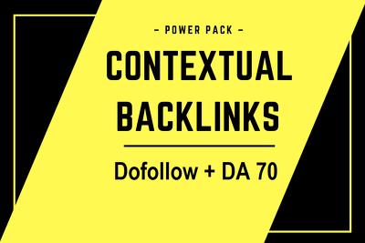 10 Contextual Backlink from High Authority Website DA 70+