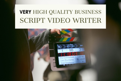 write a very high quality business script video, 500 words