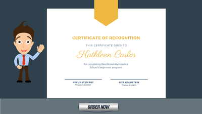 Design amazing formal, custom certificate