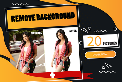 Remove background from 20 pictures. Background removal