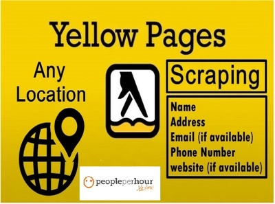 Professionally scrape 500 data from the yellow pages or whites p