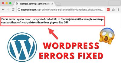 Resolve your WordPress website errors