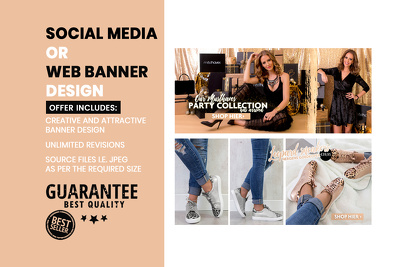 Design a creative banner for social media and website