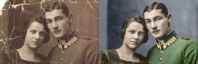 Repair fix recover and colorize your old photo