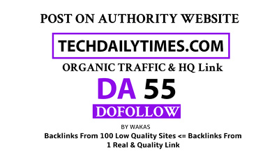 Guest Post on Techdailytimes – Techdailytimes.com DA 55 Dofollow