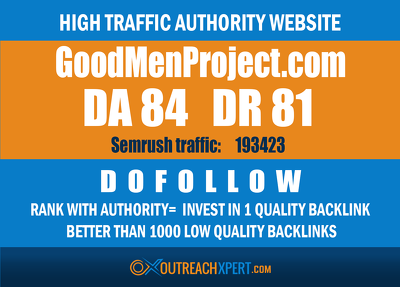 Guest post on goodmenproject – Goodmenproject.com  – DA 82