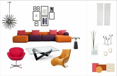 Create the interior design mood board