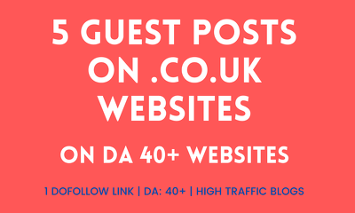 Write and Publish 5 posts on UK domains