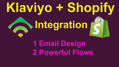 Setup klaviyo eCommerce flows for your shopify store