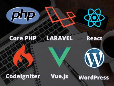 Develop php, laravel, vue js, react, node, wordpress website