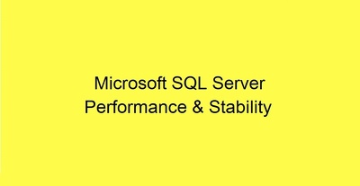Troubleshoot SQL Server performance related issues