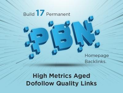 Build 17 Permanent Homepage PBN Dofollow Backlinks