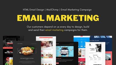 Design HTML email, Mailchimp, Email marketing campaign