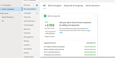 Set up and manage Bing Ads
