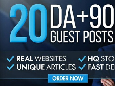 Write And Publish Guest Post On 20 Websites Da 60 Plus