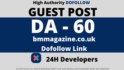 publish Guest post on bmmagazine/bmmagazine.co.uk DA 60