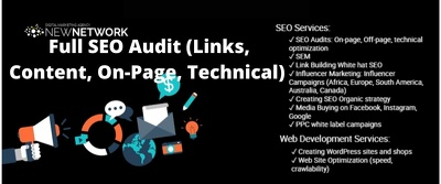 Full SEO Audit (Links, Content, On-Page, Technical) 50 Pages
