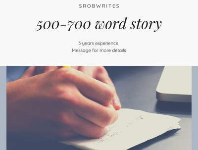 Write a 500 - 700 word story about anything
