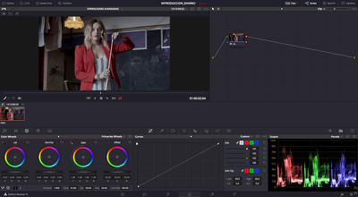 Make professional color grading/correction for your video.