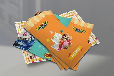 Design children style food menu or ice cream menu