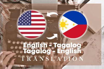 Translate English to Tagalog texts, files, websites