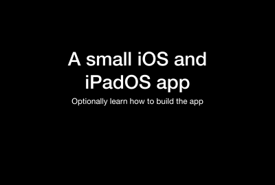 Write a simple iOS and iPadOS app with Xcode