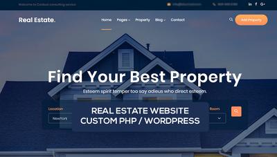 Real Estate website in PHP or WordPress