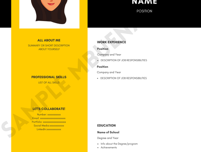Design a professional and appealing CV / resume