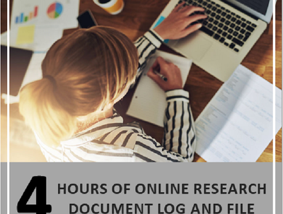 Research a topic for 4 hours, provide a document PDFs and Log