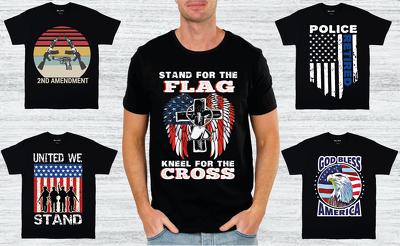 Create outstanding flag t shirt design