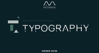 I Will Design a Unique Typography LOGO