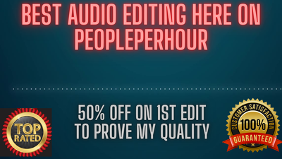 Audio editing of your podcast upto 30 minutes