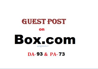 Able to publish content on Box.com (DA-93, PA-73)