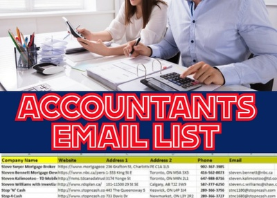 Accountants Email List, Email Database 5K