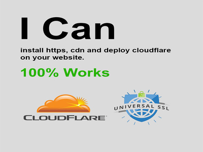 I can setup cloudflare ssl https and cdn in 24 hours