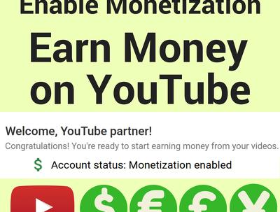 Help you active youtube monetization