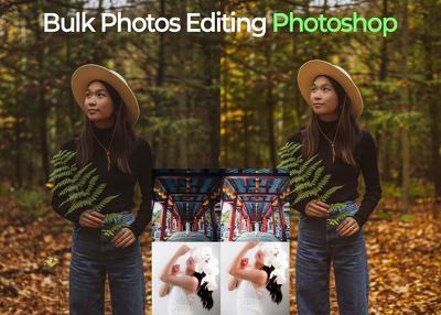 Do bulk images color fix sharp retouch or edit use photoshop