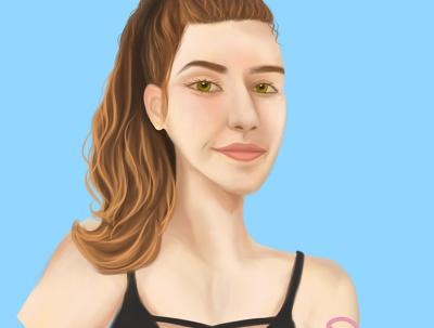 Draw a portrait, art or fan art in realism