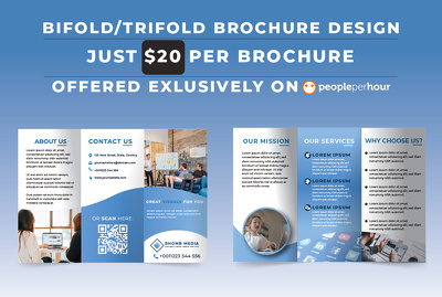 Do bifold and trifold brochure design