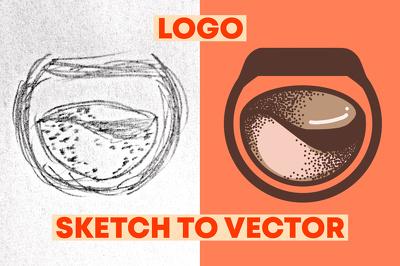 Make your sketch logo into vector logo