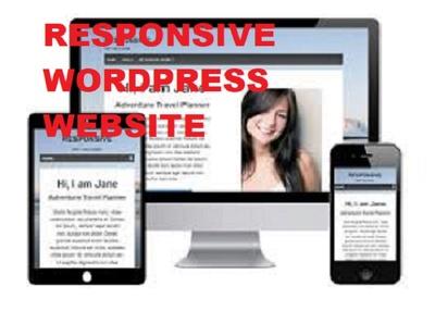 Create Professional Responsive WordPress Website USA - UK