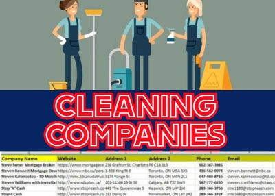 Cleaning Companies Email List, Email Database 5K