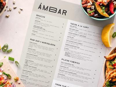 Design your food menu 1 page