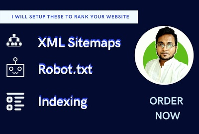 Setup your XML sitemap, Robot txt, Indexing to google and Bing