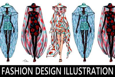 Make fashion design illustration