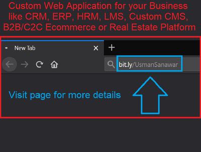 Make fully custom business web application like CRM ERP HRM LMS