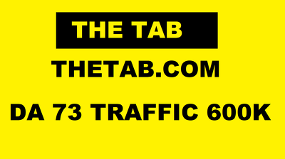 Guest Post on Thetab.com - Thetab Traffic 600k Da 73 Uk Website