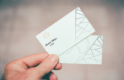 Create modern / elegant Business card design ( double side )